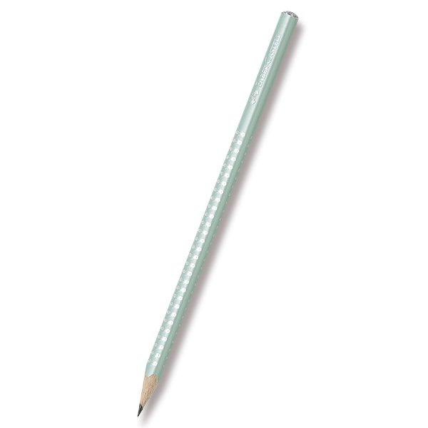 Grafitová tužka Faber-Castell Sparkle perleťová - mátová, Sleva 13%