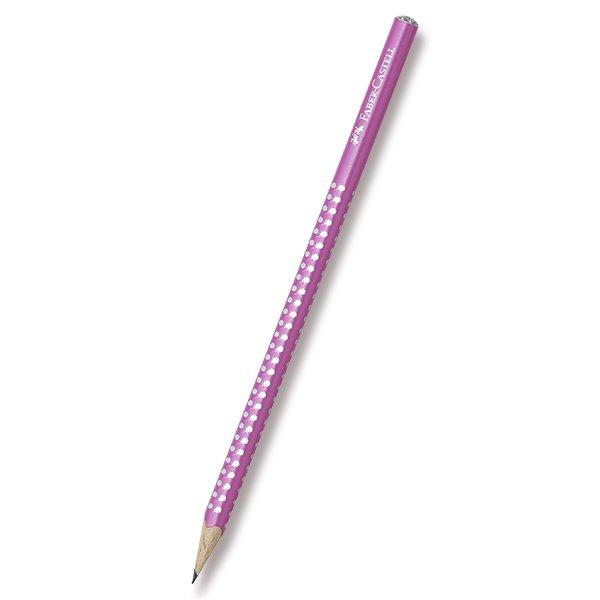 Grafitová tužka Faber-Castell Sparkle perleťová - tm.růžová, Sleva 13%