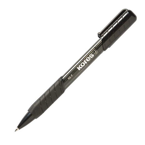 Kores Kuličkové pero K2 Pen Soft Grip 0,5mm mechanické - černé