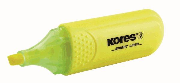 Kores Zvýrazňovač Bright Liner - žlutý