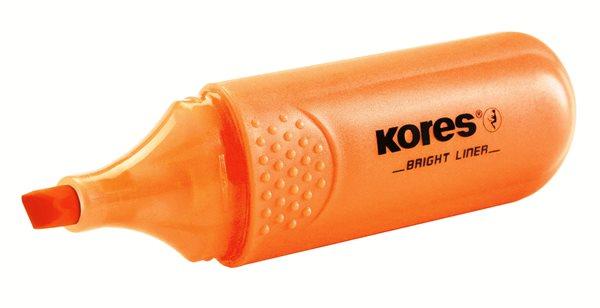 Kores Zvýrazňovač Bright Liner - oranžový