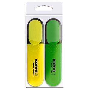 Kores Zvýrazňovač Bright Liner - sada 2 barev
