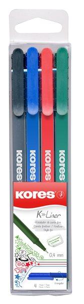 Kores K-Liner 0,4 mm - sada 4 barev