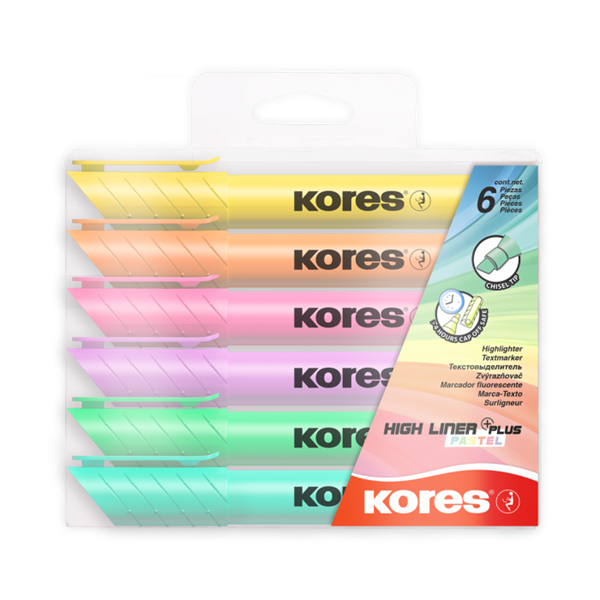 KoresZvýrazňovač High Liner Plus pastel