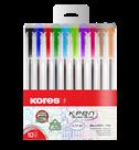 Kores Kuličkové pero K11 Pen Super Slide 1 mm - sada 10 barev