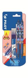 Pilot FriXion Clicker 07 Roller MIKA edice 0,7 mm - modrá, sada 2 ks + náplň zdarma