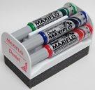 Pentel MAXIFLO Popisovač na bílé tabule - sada 4 barev s houbou