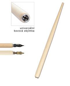 CONCORDE Násadka natural, dřevěná, 17 cm