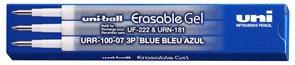 Náhradní náplň pro gumovací pero UNI 0,7 mm, 3 ks - modrá