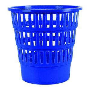 Odpadkový koš perforovaný PP 16 l - modrý