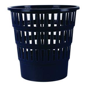 Odpadkový koš perforovaný PP 16 l - tm. modrý