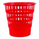 Odpadkový koš perforovaný PP 16 l - červený