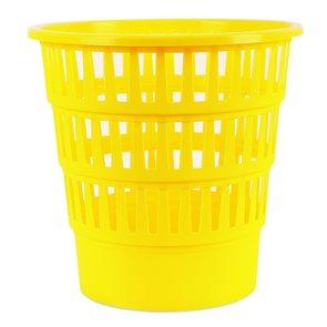 Odpadkový koš perforovaný PP 16 l - žlutý