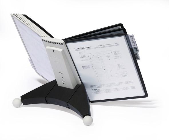 Durable SHERPA TABLE 10 Stojan s 10 rámečky A4 - šedá/černá, Doprava zdarma