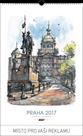 Kalendář nástěnný 2017 - Praha akvarel mini