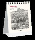 Kalendář stolní 2017 - Praha grafika micro-mini