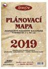 BOBO Plánovací roční mapa 2019 Retro 68 x 48 cm, skládaná
