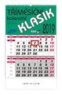 BOBO Kalendář nástěnný 2019 tříměsíční KLASIK