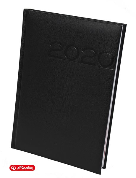 Herlitz Diář 2020 A5 denní - černý