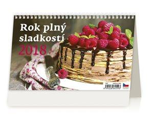 Kalendář stolní 2018 - Rok plný sladkostí