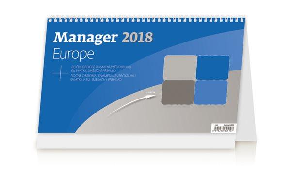 Kalendář stolní 2018 - Manager Europe - 30x18 cm