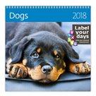 Kalendář nástěnný 2018 Label your days - Dogs