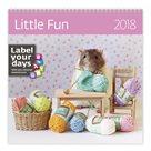 Kalendář nástěnný 2018 Label your days - Little Fun