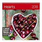 Kalendář nástěnný 2018 Label your days - Hearts