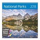 Kalendář nástěnný 2018 Label your days - National Parks