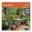 Kalendář nástěnný 2018 Label your days - Gardens