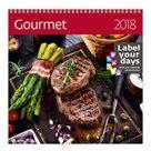 Kalendář nástěnný 2018 Label your days - Gourmet