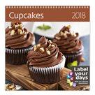 Kalendář nástěnný 2018 Label your days - Cupcakes
