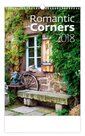 Kalendář nástěnný 2018 - Romantic Corners
