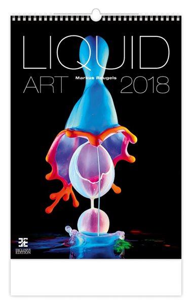 Kalendář nástěnný 2018 - Liquid Art