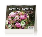 Kalendář stolní 2019 - Minimax Květiny
