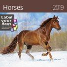 Kalendář nástěnný 2019 Label your days - Horses