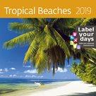Kalendář nástěnný 2019 Label your days - Tropical Beaches