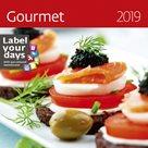 Kalendář nástěnný 2019 Label your days - Gourmet