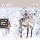 Kalendář nástěnný 2019 Label your days - White