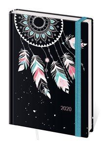 Stil Diář 2020 LYRA A5 týdenní s gumičkou - Feathers