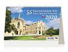 Kalendář stolní 2020 - 55 turistických nej Čech, Moravy a Slezska