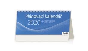 Kalendář stolní 2020 - Plánovací kalendář MODRÝ