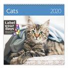 Kalendář nástěnný 2020 Label your days - Cats