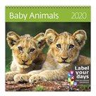 Kalendář nástěnný 2020 Label your days - Baby Animals