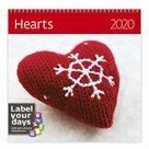 Kalendář nástěnný 2020 Label your days - Hearts