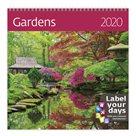 Kalendář nástěnný 2020 Label your days - Gardens