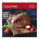 Kalendář nástěnný 2020 Label your days - Gourmet