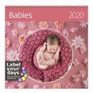 Kalendář nástěnný 2020 Label your days - Babies
