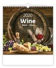 Kalendář nástěnný 2020 - Wine