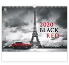 Kalendář nástěnný 2020 - Black Red